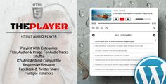 ThePlayer - HTML5 Audio Player with Playlist and Categories - WordPress Plugin