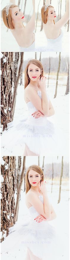 Senior Portraits Ballet & Snow Session • Arkansas Photographer
