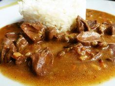 Kachní srdce na cibulce a kmínu Stew, Meat, Cooking, Food, Kitchen, Essen, Meals, Yemek, Brewing