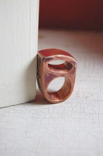 hollow form copper ring, via Flickr.