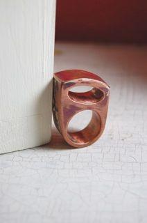 hollow form copper ring, via Flickr.