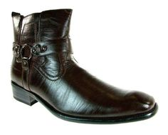 Mens Delli Aldo Ankle High Buckle Dress Boots 670 Brown-72