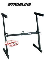 "Stageline Collapsible Z Keyboard Stand, KS29 by Stageline. $59.95. Features secure and sturdy height and width adjustment. Black finish. Load capacity 198 lbs. Height adjustment 23.75""-36.75"", Width adjustable 22.75""-33.5"" Important: Some stands may require assembly."