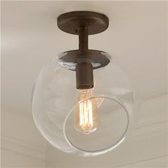 Young House Love Wonky Glass Ceiling Light