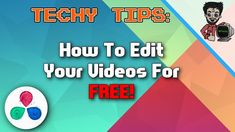 How To Edit YouTube Videos For FREE! | Techy Tips | RDTechy