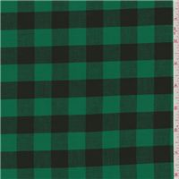 "Green/Black Shirting Kelly Green & Black 1"" Check Cotton Shirting Fabric Suitable for Blouses, Shirts, Dresses & Crafts 100% Cotton 50"" wide Machine ... [ more ] 22460"