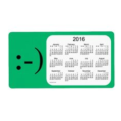 2016 Mint Green Calendar by Janz Label Shipping Label