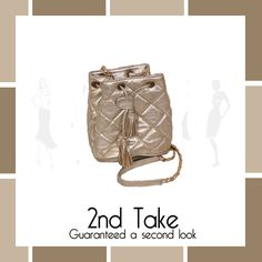 Mateus_gold_quilted_bag_at_2ndtake_store Bags, scarfs, jewellery and more at 2nd Take Today! #2ndtake #2ndhandstore #international #designer #brands