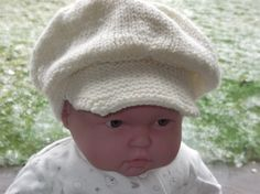 Child's Peaked Hat White Aran by ArdSolas on Etsy, £8.50