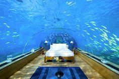 Maldives  Bedroom in the ocean :)  #bedroom #ocean #design