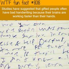 Bad handwriting - WTF fun fact