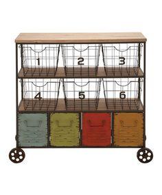 Another great find on #zulily! Rolling Metal Storage Cart #zulilyfinds