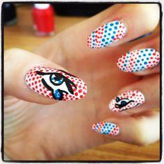 Roy Lichtenstein nail art