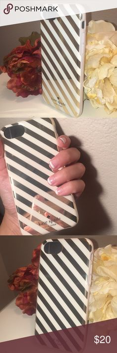 KATE SPADE NEW YORK STRIPED IPHONE CASE KATE SPADE NEW YORK DIAGONAL STRIPED IPHONE CASE FOR FITS IPHONE 6/6s/7/8. RUBBER/RESIN kate spade Accessories Phone Cases