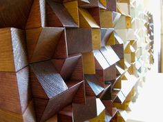 """Panel """"Jazz"""", The workpiece is assembled of wooden bricks of varying heights. Such a structure create volume and immersive effect in your space.#wallpanels #woodpanels #reclaimedwood #woodwallsculpture #wood #drovitnya #деревянныепанели #декор #декордлястен #дизайнинтерьера #3dpanel"""