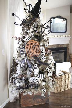 Vintage Halloween Tree. Halloween Decorations!                                                                                                                                                                                 More