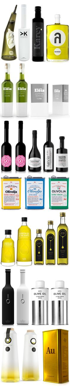 Olive oils viewed through its packs