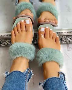 Toe Ring Fluffy Flat Slipper Sandals Women's Online Shopping Offering Huge Discounts on Dresses, Lingerie , Jumpsuits , Swimwear, Tops and More. Toe Ring Sandals, Flat Gladiator Sandals, Slipper Sandals, Cute Sandals, Toe Rings, Strap Sandals, Shoes Sandals, Belly Rings, Leather Sandals