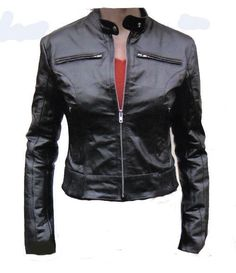NWT Ladies Biker Motorcycle Leather Black Jacket Size XS-3XL 12 Colors #ColombianCouture #Motorcycle