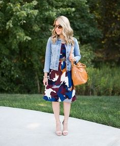 Midi Dress and Denim Jacket (on sale!)