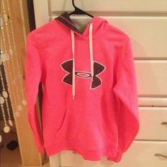 Under armour breast cancer hoodie Neon pink! Perfect condition! Brand new! Tops Sweatshirts & Hoodies