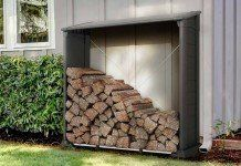 Wood Storage Sheds, Firewood, Gardens, Wood Storage, Solid Wood, Bricolage, Woodburning, Wood Fuel