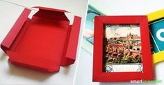 picture frames with origami - fold without glue - Pictureframe 3d Picture Frame, Diy Wand, 3d Pictures, Origami Folding, Idee Diy, Paper Frames, Diy Paper, Diy For Kids, Stampin Up