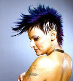 #Lila vagányság / #Violet moxie #hair #hairtattoo