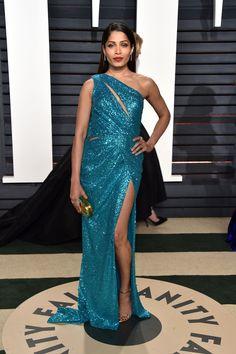 Freida Pinto-Vanity Fair Oscar Party  - HarpersBAZAAR.com