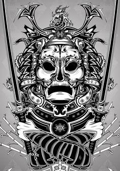 Samurai by Henrik Östergaard, via Behance