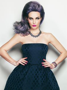 Large image of Medium Purple straight hairstyles provided by Rizos. Picture Number 24405