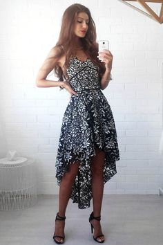 Miss Runway Fashion - Eliyah Lace Dress - Black/White