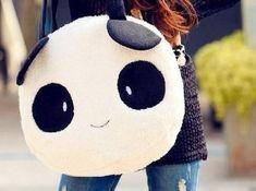 bolsa de hombro grande en forma de cara de oso panda