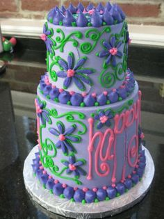 lilly pulitzer birthday cakes | cake gallery: party cakes