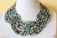 Handmade African Fusion Necklace Choker Collar Multi Color Masai Beads DB05