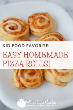 Kids Meals Easy homemade pizza rolls are the perfect make ahead kid food. - Recipe for easy homemade pizza rolls. A homemade spin on a kid food favorite that the whole family will love. Easy and fast to make. Easy Toddler Meals, Kids Meals, Easy Meals, Toddler Food, Toddler Pizza Recipe, Pizza Buns, Pizza Roll Up, Homemade Pizza Rolls, Making Homemade Pizza