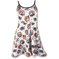 Animal Hospital Strap Dress #rockabilly #WomenDresses #red #dress #white