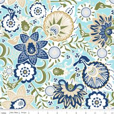 Carina Gardner - Songbird - Songbird in Blue - would love to make cover for the daybed outside in this!!!