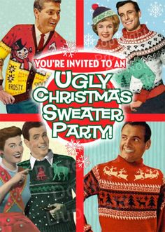 Ugly Christmas Sweater Party Invitations- Invite your guests to show off their festive, funny, and ugly holiday sweaters at a party with this popular theme.Customize your invites and see the proof in real time!