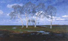 "Fritz Overbeck: ""Frühling (II)"", 1902"
