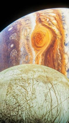Jupiter's Moon Europa, Jupiter Planet, Jupiter Moons, Space Planets, Space And Astronomy, Cosmos, Eagle Nebula, Planets And Moons, Painting Art