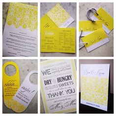 #WeddingStationery for a wedding in #goa designed in bright yellow to suit the destination #weddinginvite #stationery #skafidesigns #madetoorder