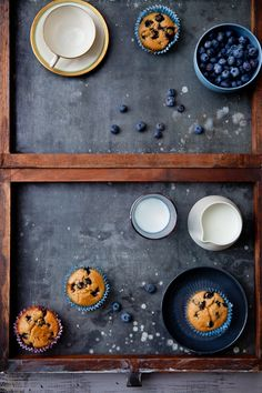 Fresh baked blueberry muffins. :-)