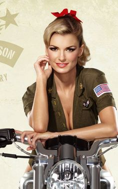 Marisa Miller! I have always loved her tomboyish ways mixed with her elegant beauty.