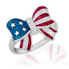 American Pride Diamond Ring - The Danbury Mint