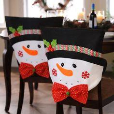 Mr. Snowman Chair Covers / Se ven geniales éstos Covers para las sillas!!!