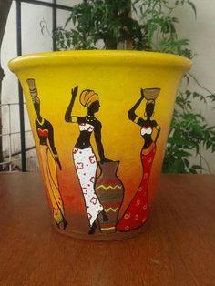 Worli Painting, Bottle Painting, Ceramic Painting, Bottle Art, Ceramic Art, Pottery Painting Designs, Paint Designs, Pottery Art, African Art Paintings