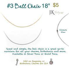 "JK by Thirty-One #3 Ball Chain 18"" mythirtyone.com/daniellehernandez"