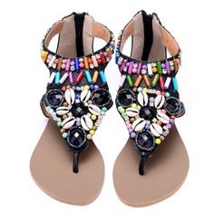 the awesome bohemian beaded rave flats Rave Shoes, Womens Flats, Edm, Bohemian, Raves, Sandals, Sneakers, Stuff To Buy, Awesome