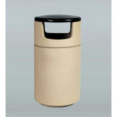 """Allied Molded Products Boulevard 27-Gal Round Side Load Industrial Trash Bin Color: Peach, Size: 41"""" H x 26"""" W x 26"""" D"""